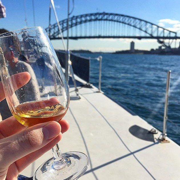 The perfect day for a bit of wine-ing on the Harbour.  Great shot by @whiskyandtailor