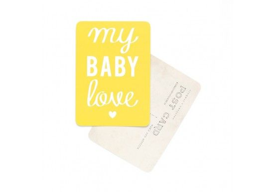 Carte postale My baby love / Mona - citron 2,00 € http://www.laboutiquedelouise.com