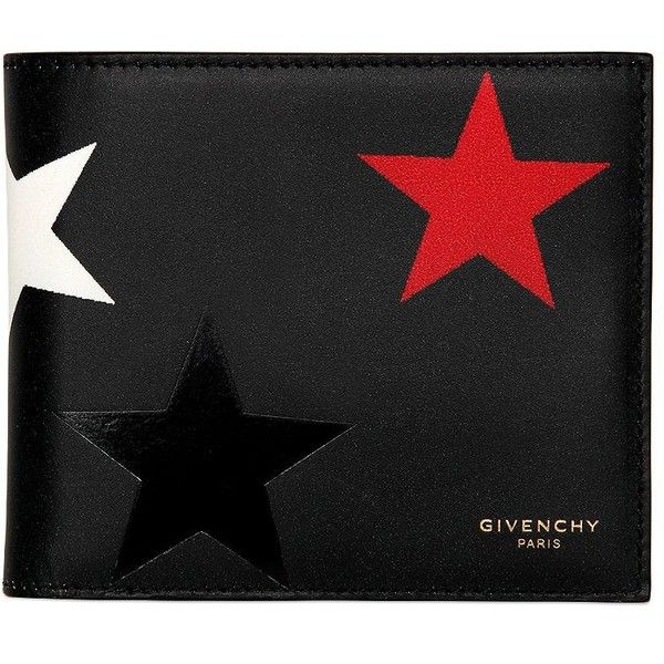 Givenchy Men Stars Printed Leather Classic Wallet ($630) ❤ liked on Polyvore featuring men's fashion, men's bags, men's wallets, black, mens leather wallets, mens wallets and givenchy mens wallet