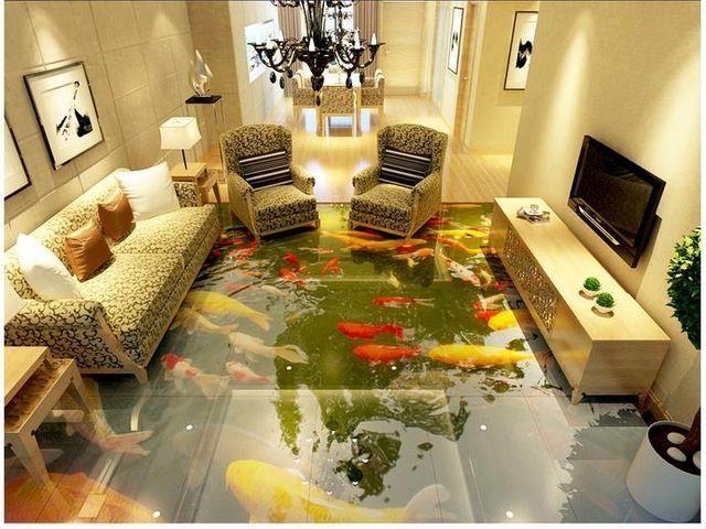 3d Fototapete Benutzerdefinierte 3d Bodenbelag Malerei Tapetenwandbilder 3 D Chinesis In 2020 3d Bodenbelag Bodenmalerei Farben Und Tapeten