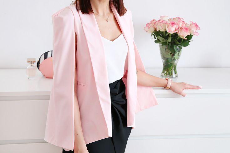 Pink cape blazers Shein.com – Moda, stylizacja, uroda, lifestyle