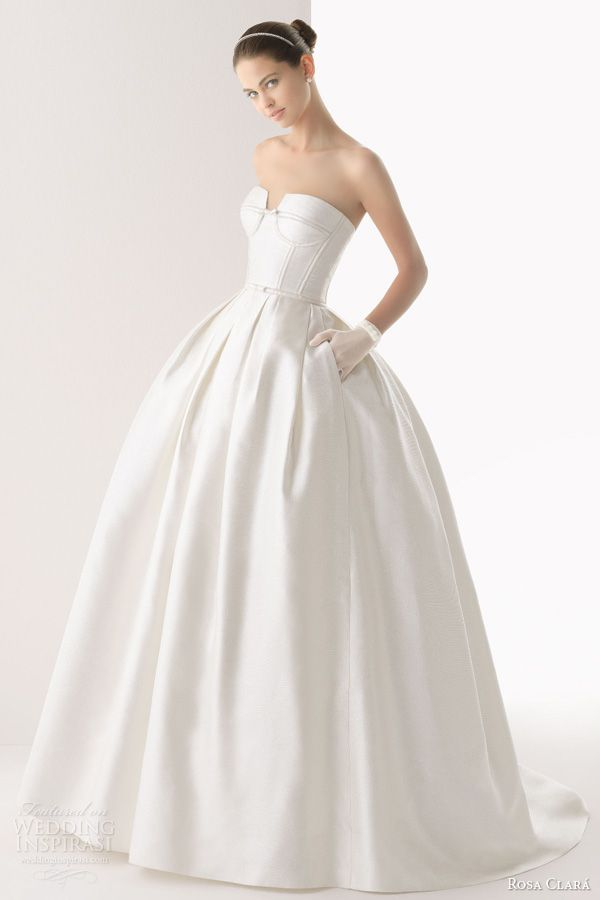 rosa clara wedding dresses 2014 colombia strapless silk ball gown
