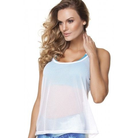 #Sports screen #tank top are available both black and white color. It's little transparent and looks so nice. Why don't you order it for yourself at http://riofitness.com.au #fitness #gymwear #workout #outfit