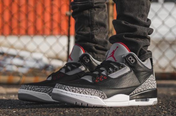 100% authentic 6ccf1 9de56 Here s How The Air Jordan 3 Retro OG Black Cement Looks On-Feet The wait