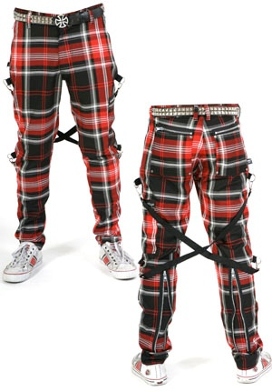 Bondage Pants by Dogpile- BLACK PLAID | Bondage/Seditionary ...