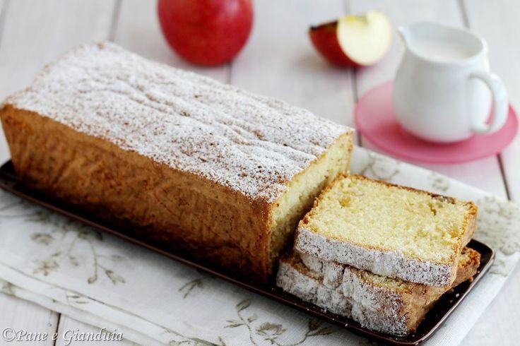 Plumcake con panna e mele