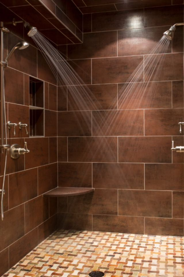 This Shower Would Be Perfect. Double Shower Head But Not Too Big. Nice And