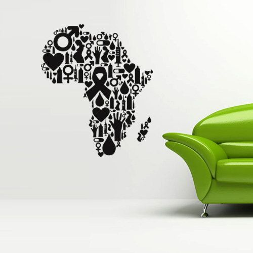 Best Africa Map Wall Art Images On Pinterest Africa Map Map - Make custom vinyl wall decalsvinyl wall decal sticker paint dripping s wall decals attic
