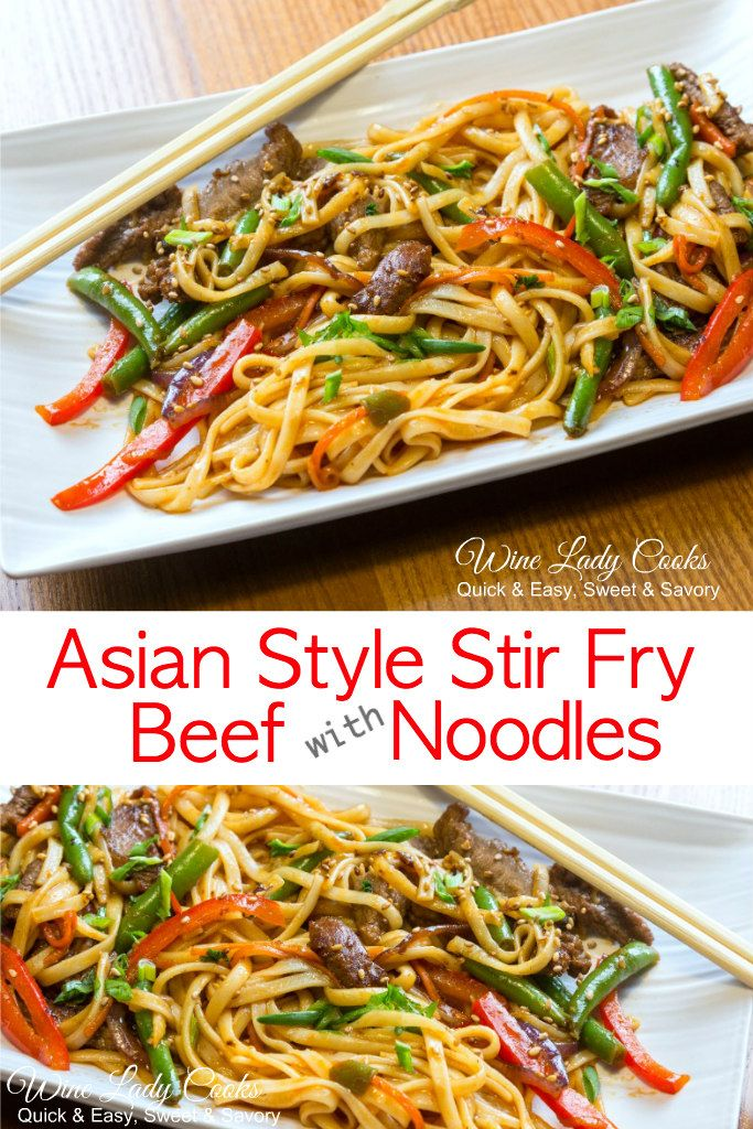 Asian Style Beef With Noodles Recipe Food Recipes Fried Beef