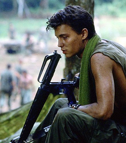 A young Johnny Depp was in Platoon.