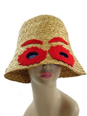Fabulous Vintage 60s Straw Sunglasses Bucket Beach Hat Italy ... dc860b05df0