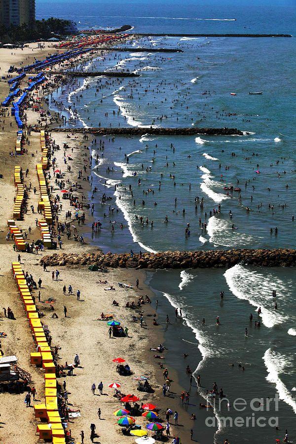 Bocagrande beach in Cartagena, Colombia