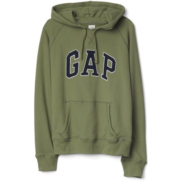 Gap Men French Terry Logo Pullover Hoodie ($33) ❤ liked on Polyvore featuring men's fashion, men's clothing, men's hoodies, mens hooded sweatshirts, mens long hoodie, mens hoodies, mens raglan hoodie and mens hoodie