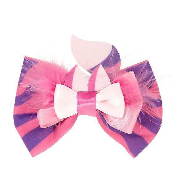 Disney Alice In Wonderland Cheshire Cat Cosplay Bow Hot Topic ($15) ❤ liked on Polyvore featuring accessories, hair accessories, hair bow accessories, barrette hair clip, disney, disney hair clips and cat hair accessories