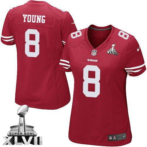 (elite nike womens steve young red super bowl xlvii jersey) san francisco 49ers home 8 nfl easy