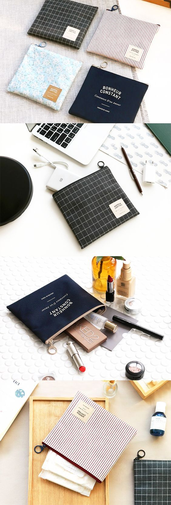 The Medium Basic Pouch: the classiest way to carry my make up, skin care, feminine hygiene products, and so much more!: