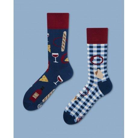 skarpetki Many Mornings Bonjour France - socks - oddsocks - polscy projektanci / polish designers - made in poland - elska.pl