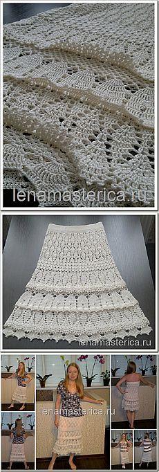falda vestido de verano crochet & quot; El encanto de encaje & quot;, el circuito