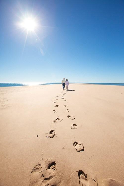Leave only footprints. Woodgate Beach #bundaberg in Queensland - Australia