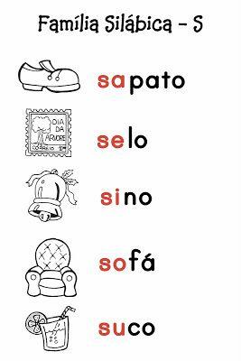 O Mundo da Alfabetização: Silabário - S e T