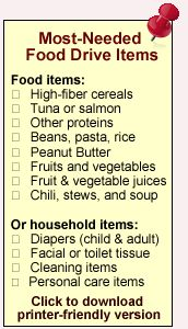 Grocery List Most Needed Items For Greater Pittsburgh