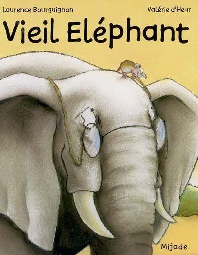 CPRPS 31997000913624 Vieil Eléphant. L'ami de Petite Souris, Vieil Eléphant, est âgé et il sait qu'il va bientôt lui falloir aller au pays des éléphants pour y mourir. La passerelle pour y accéder est abîmée et Petite Souris ne veut pas la réparer car elle refuse que Vieil Elephant la quitte. Un album sur l'acceptation de la mort.
