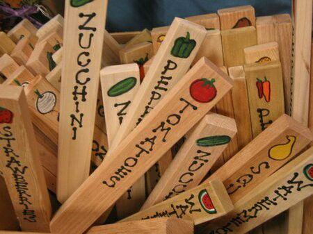 DIY Garden Stakes Will Look Awesome In My Budding Garden! Spray With Poly  To Make Weatherproof.