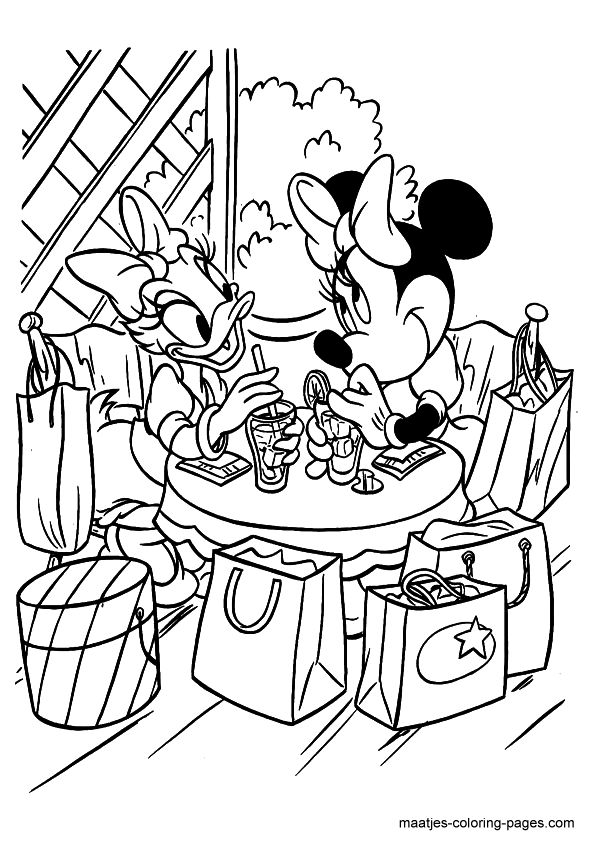 Marvelous Minnie Mouse And Daisy Duck Coloring Pages 5 Minnie And Daisy Coloring