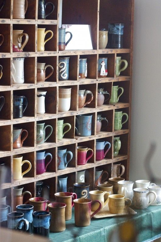 shelf just for coffee mugs!