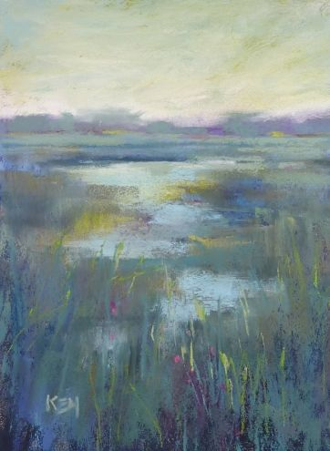 A Quick and Easy Way to Tone Your Pastel Paper, painting by artist Karen Margulis