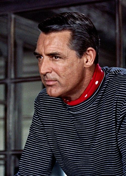 Great picture of Cary Grant as 'John Robie', from TO CATCH A THIEF. That red bandana!