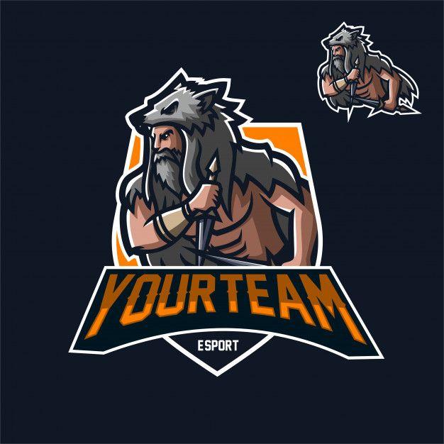 Plantilla De Logotipo De Mascota De Juego De Viking Warrior Esport Vector Premium Plantillas De Logotipo Logos Geniales Logotipos