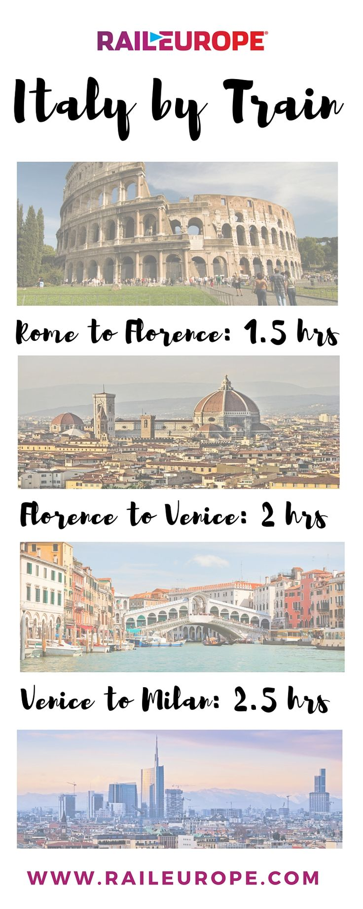 Italy is an easy country to travel by train || #lyoness | Travel now: https://www.lyoness.com/branche/travel