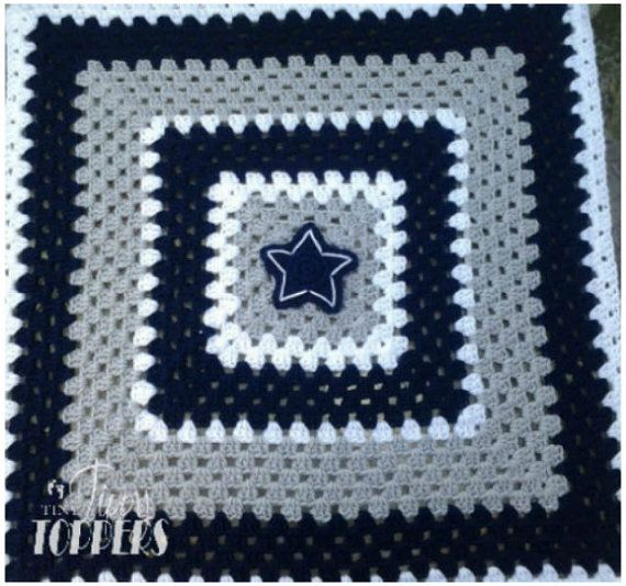Handmade crocheted dallas cowboys baby blanket by TinyTippyToppers, $60.00