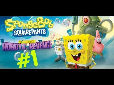 Spongebob Squarepants Game Full Episode 1 - Plankton's Robotic Revenge D...