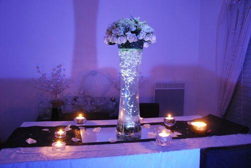 décoration mariage centre de table mariage lumineux