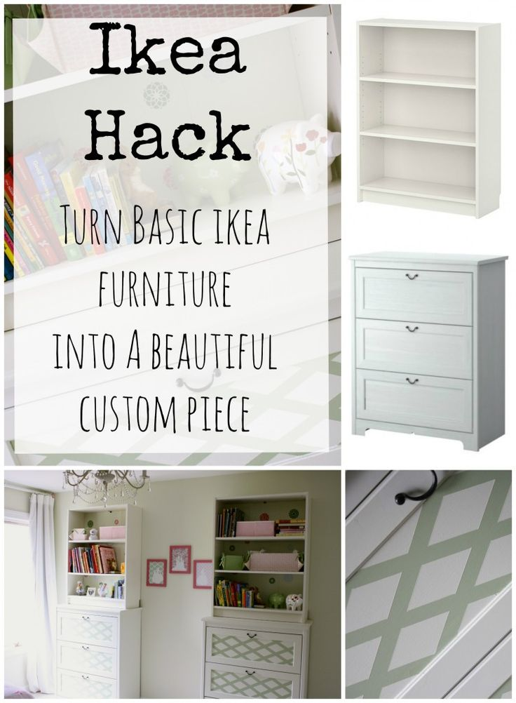 IKEA hack! nice one! i like the paint on the inside of the drawer front!