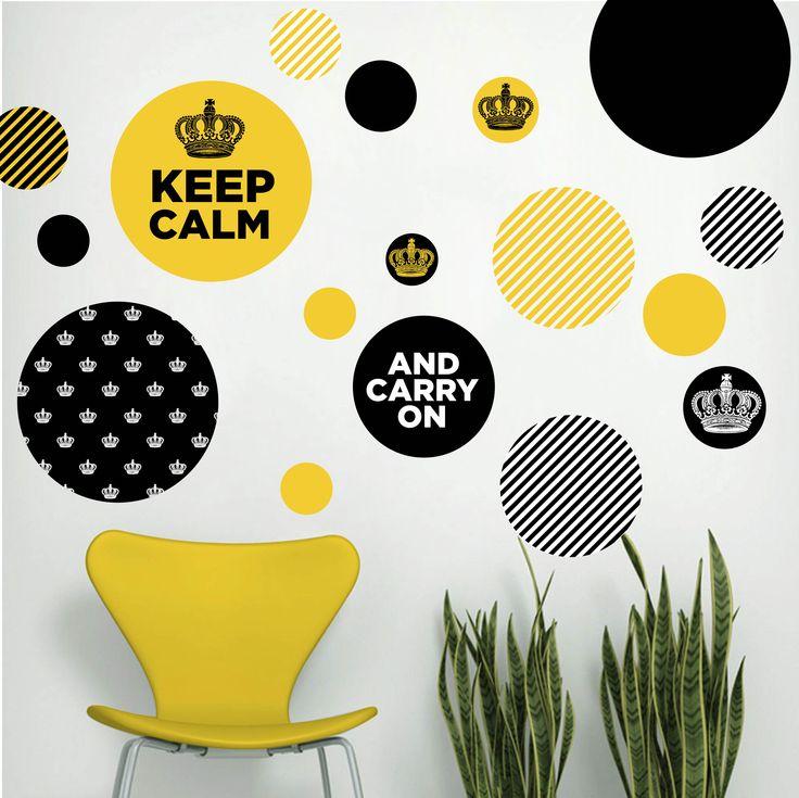 Kit De Vinilo Autoadhesivo Keep Calm