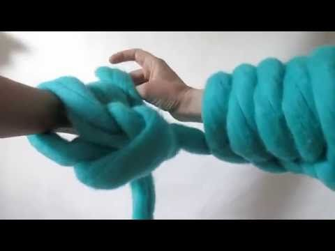 Arm Knit Blanket - Arm Knitting - How To - YouTube