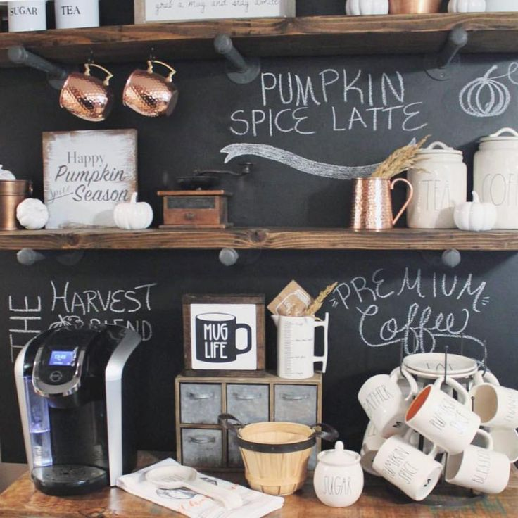 I have been dreaming of a chalkboard coffee bar forhellip