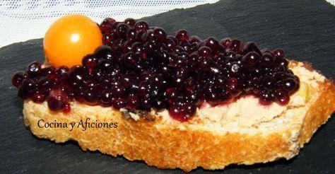Tosta de bloc de pato con caviar de vino tinto, receta paso a paso
