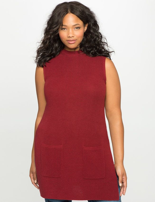 Sleeveless Sweater Tunic from eloquii.com