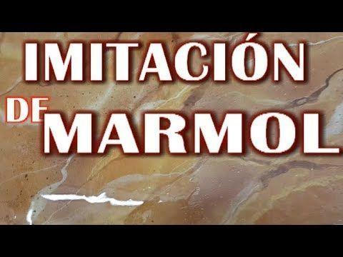 Imitación de Mármol, papa paredes, columnas, suelos, encimeras, mesas, muebles - YouTube