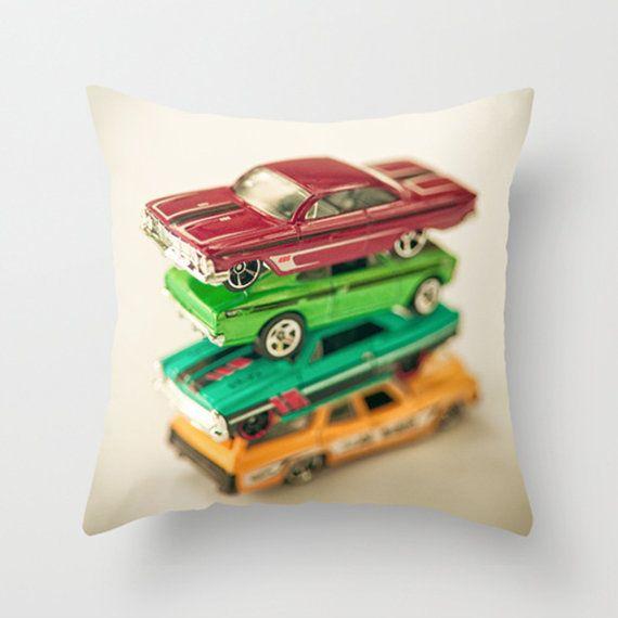 Voiture oreiller oreiller décoratif affaire Throw Pillow oreiller couverture voiture oreillers garçons salle Nursery décor Mid Century Home Decor - 16 x 16