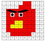 """Angry birds 100 chart coloring page printable.  So fun! My 4 year old will love that he can """"draw"""" an angry bird."""