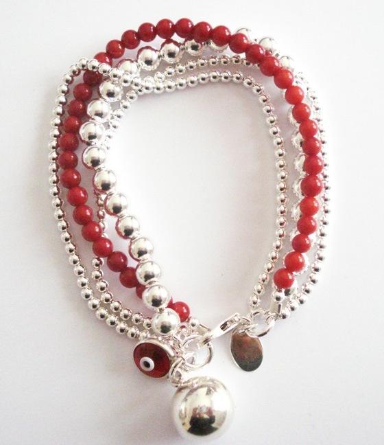 Sue Sensi silver & coral object of desire