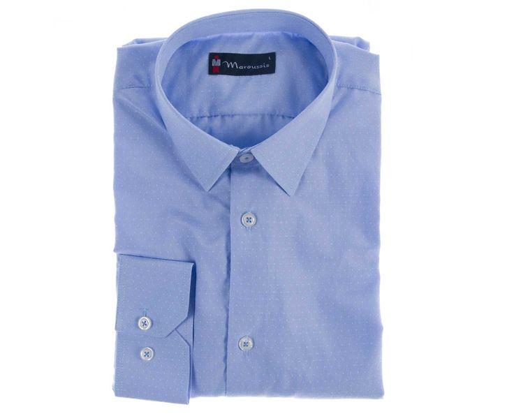 Ανδρικό Πουκάμισο Slim Fit σε τρία χρώματα Κ Μαρούσης, 80% Βαμβάκι, 20% Πολυέστερ.