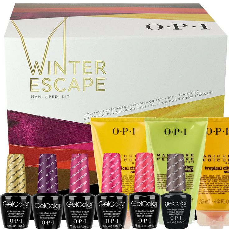 NEW 2014 OPI Gel Color Winter Escape Mani/Pedi Soak off Nail Polish Soak off Kit #OPI