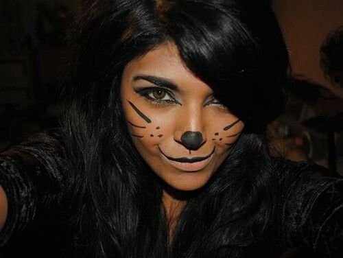cat makeup for halloween - Scary Cat Halloween Costume