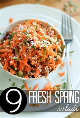 9 Fresh Spring Salads to Ease Out of Winter:  Here are some gorgeous and scrumptious options to switch up your salad routine.